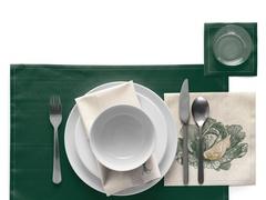 Салфетки в рулоне 32х32см (6шт) My Drap Green Veggie Recycled cotton SRA32V/105-11