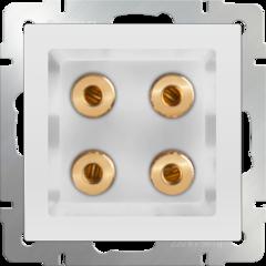 Акустическая розетка (белый) WL01-AUDIOx4 Werkel
