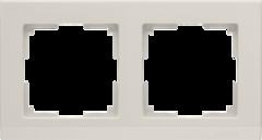 Рамка на 2 поста (слоновая кость) WL04-Frame-02-ivory Werkel