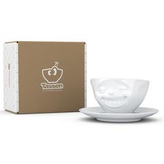 Чайная пара Tassen Laughing 200 мл белая T01.47.01