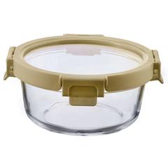 Контейнер для еды Smart Solutions стеклянный 950 мл светло-бежевый ID950RD_7534C