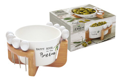 Набор для закуски: чаша д/оливок + 8 шпажек на подставке Kitchen Elements в подарочной упаковке Easy Life AL-56211