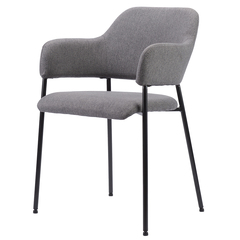 Кресло Berg Wendy, рогожка, темно-серое BECH-WEVTEX_22