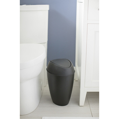 Корзина для мусора с крышкой Twirla 9 л черная Umbra 1012978-040