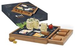Набор для сыра: разделочная доска + 4 ножа Мир сыров Easy Life AL-46543