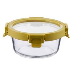 Контейнер для еды Smart Solutions стеклянный 400 мл желтый ID400RD_127C