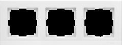 Рамка на 3 поста (белый) WL04-Frame-03-white Werkel