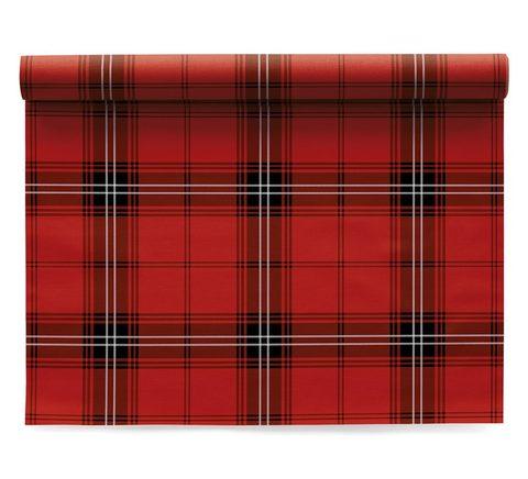 Сервировочные маты в рулоне 48х32см (6шт) My Drap Cotton Tartan Christmas IA48N4/701-11