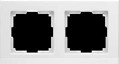 Рамка на 2 поста (белый) WL04-Frame-02-white Werkel