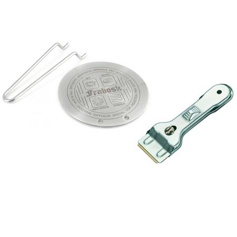Комплект из диска для индукционной плиты 22см Frabosk и скребка для чистки плиты Westmark