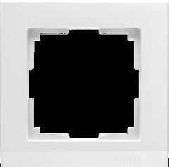 Рамка на 1 пост (белый) WL04-Frame-01-white Werkel