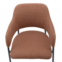 Кресло Berg Wendy, рогожка, терракота BECH-WEVTEX08