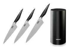 Комплект из 3 кухонных ножей Samura Joker и подставки 224542241