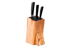 Набор из 3 кухонный керамических ножей Mikadzo Imari Black и универсальной подставки 4992023