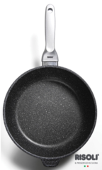 Литая глубокая сковорода Risoli Granito Premium Induction 24см 01104GRIN/24