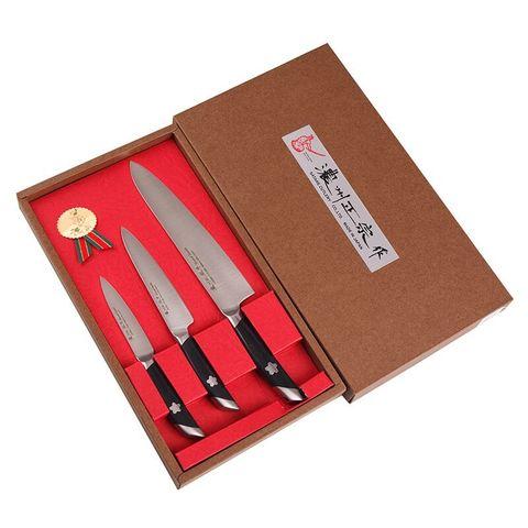 Набор из 3 кухонных ножей SATAKE Sakura HG8082/B