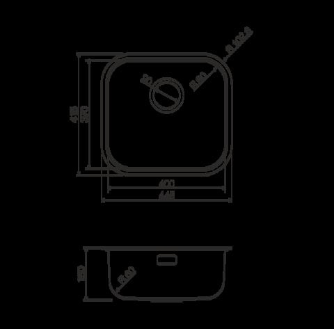 Кухонная мойка из нержавеющей стали OMOIKIRI Omi 44-АB (4993190)