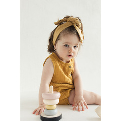 Боди из хлопкового муслина горчичного цвета из коллекции Essential 3-6M Tkano TK20-KIDS-BOD0001