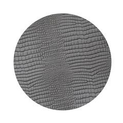 Подстановочная салфетка круглая 24 см LindDNA CROCO silver-black 98620