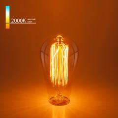 Ретро лампа Эдисона ST64 60W E27 Elektrostandard