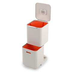 Контейнер для мусора с двумя баками Totem Compact 40 л белый Joseph Joseph 30064