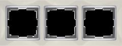 Рамка на 3 поста (слоновая кость/хром) WL03-Frame-03-ivory Werkel