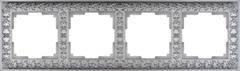 Рамка на 4 поста (матовый хром) WL07-Frame-04 Werkel