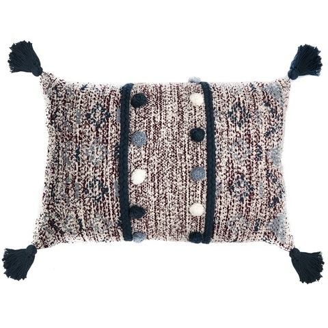 Подушка декоративная с помпонами и кисточками Tkano TK18-CU0001