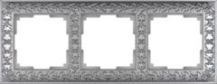 Рамка на 3 поста (матовый хром) WL07-Frame-03 Werkel