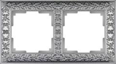 Рамка на 2 поста (матовый хром) WL07-Frame-02 Werkel