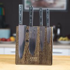 Комплект из 4 ножей Samura 67 Damascus и подставки