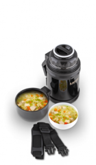Термос универсальный (для еды и напитков) La Playa Traditional (1,2 литра) черный 560047