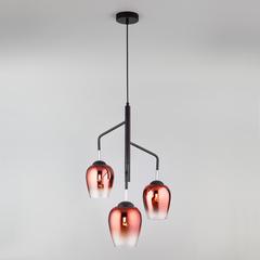 Подвесной светильник со стеклянными плафонами Eurosvet Record 50086/3 медь