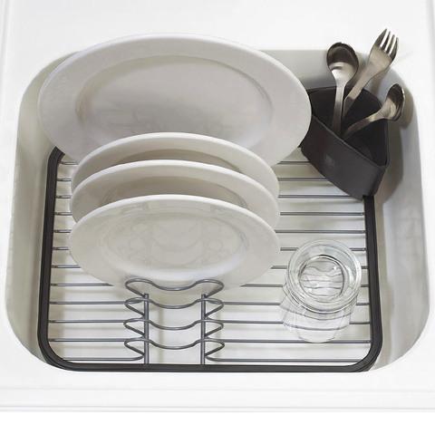 Сушилка для посуды Umbra sinkin dish серая/никель 330065-744*