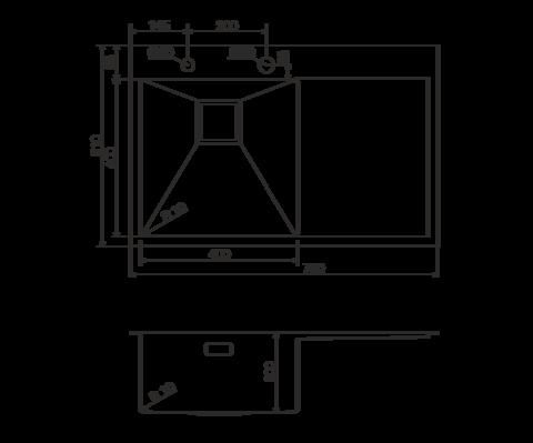Кухонная мойка из нержавеющей стали OMOIKIRI Akisame 78-LG-L (4993085)