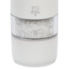 Мельница Peugeot Alaska для соли, 17 см, белый поликарбонат, на батарейках 27674