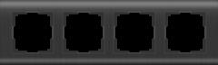 Рамка на 4 поста (графит) WL12-Frame-04 Werkel