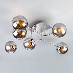 Потолочный светильник с круглыми стеклянными плафонами Eurosvet Evita 30140/6 хром