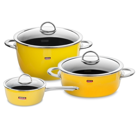 Набор посуды из 3 предметов KOCHSTAR NEO арт. YELLOW-1