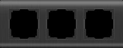 Рамка на 3 поста (графит) WL12-Frame-03 Werkel