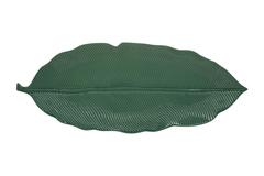 Блюдо-листок сервировочное (зелёный) Мадагаскар в подарочной упаковке