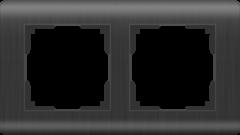 Рамка на 2 поста (графит) WL12-Frame-02 Werkel