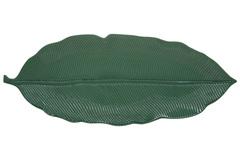 Блюдо-листок сервировочное (зелёный) Мадагаскар, большой, в подарочной упаковке.