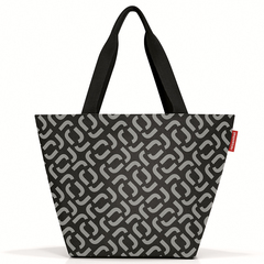 Сумка Shopper M signature black Reisenthel ZS7054