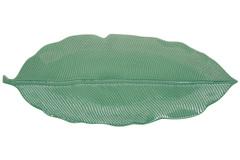 Блюдо-листок сервировочное (св.зелёный) Мадагаскар, большой, в подарочной упаковке.