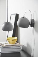Лампа настенная Ball, светло-серая матовая Frandsen 4750_276011