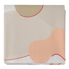 Скатерть из хлопка бежевого цвета с авторским принтом из коллекции Freak Fruit, 170х170 см Tkano TK20-TC0009
