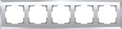 Рамка на 5 постов (зеркальный) WL08-Frame-05 Werkel