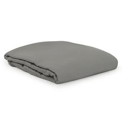 Простыня из сатина серого цвета из египетского хлопка из коллекции Essential, 180х270 см Tkano TK20-SH0005