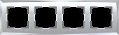 Рамка на 4 поста (зеркальный) WL08-Frame-04 Werkel